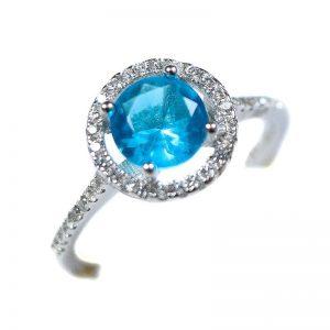 Strieborný prsteň Glare 89