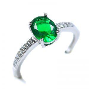 Strieborný prsteň Glare 77