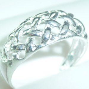 Strieborný prsteň Glare 61