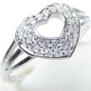 Strieborný prsteň Glare 90