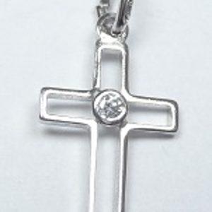 Strieborný krížik Glare 41