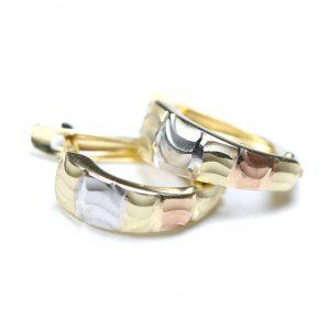 Zlaté náušnice Glare 65
